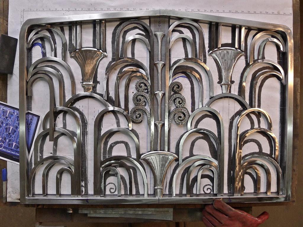 ... Art DECO Fireplace Screen (in Progress) | by Man_of Steel - Art DECO Fireplace Screen (in Progress) There Are Still 7 €� Flickr