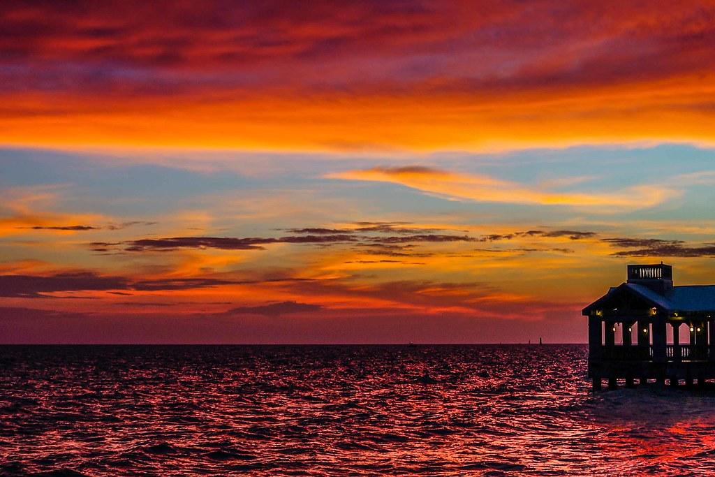 Key West Sunset From Louie S Backyard Key West Florida