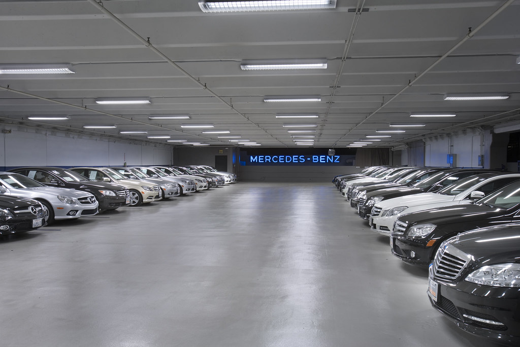 New car storage area new car storage area mercedes for Mercedes benz of encino