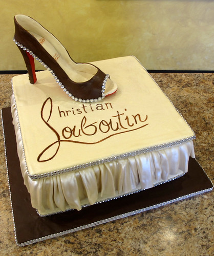 Christian Louboutin Shoe Box Birthday Cake