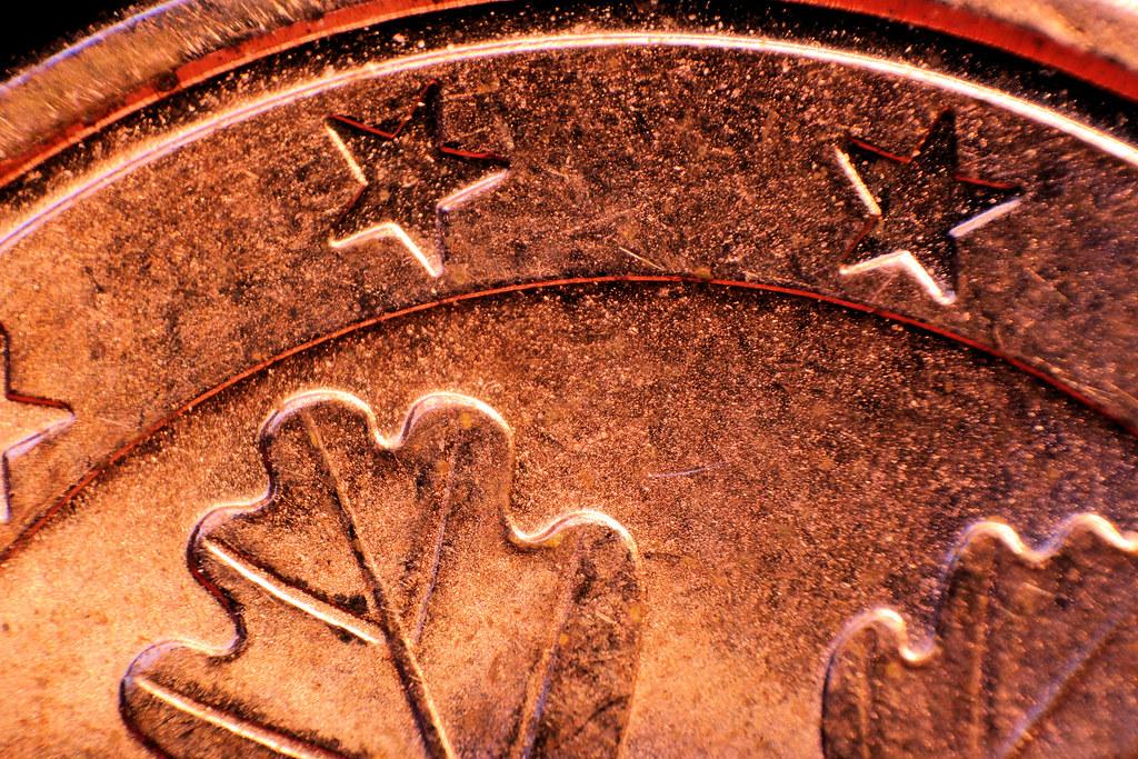 1 Euro Cent Münze Rückseite Detail 03 Der Sternenkranz Am Flickr
