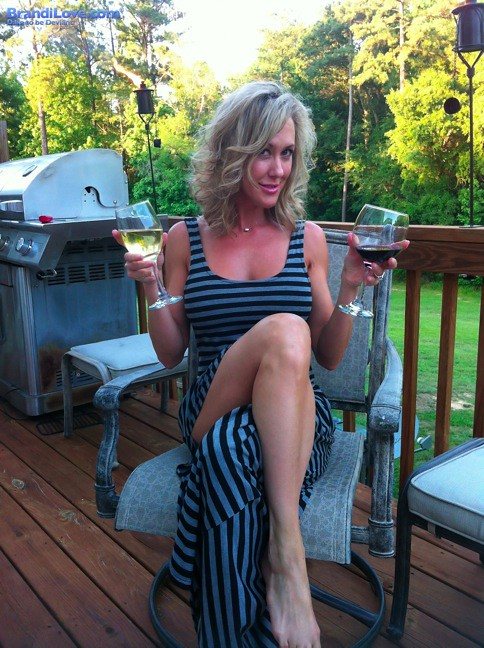 Brandi Love Wine Snob  Just Hanging Out On The Deck -1270