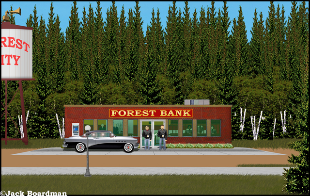 The Forest Bank was about to be robbed ©Jack Boardman