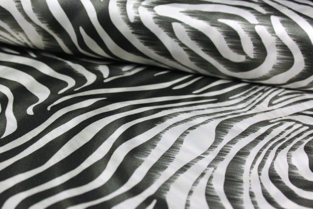 Blusenstoff Zebra
