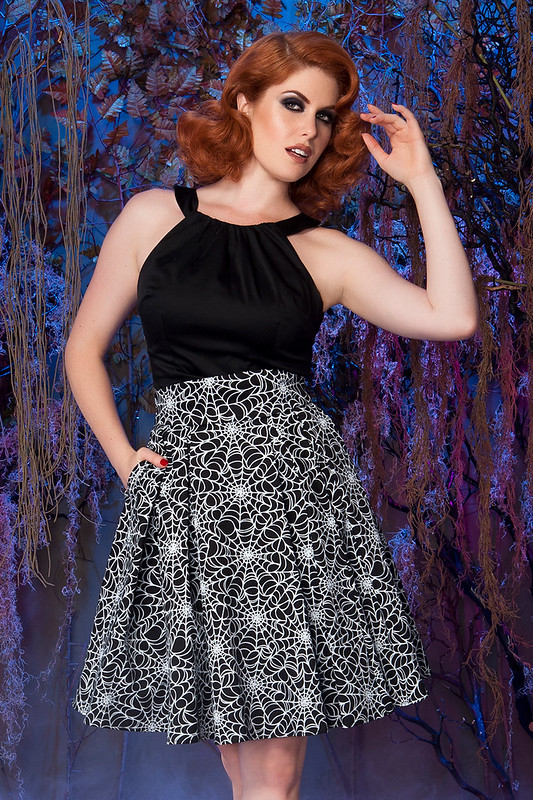 pinup girl clothing little jun spiderweb skirt