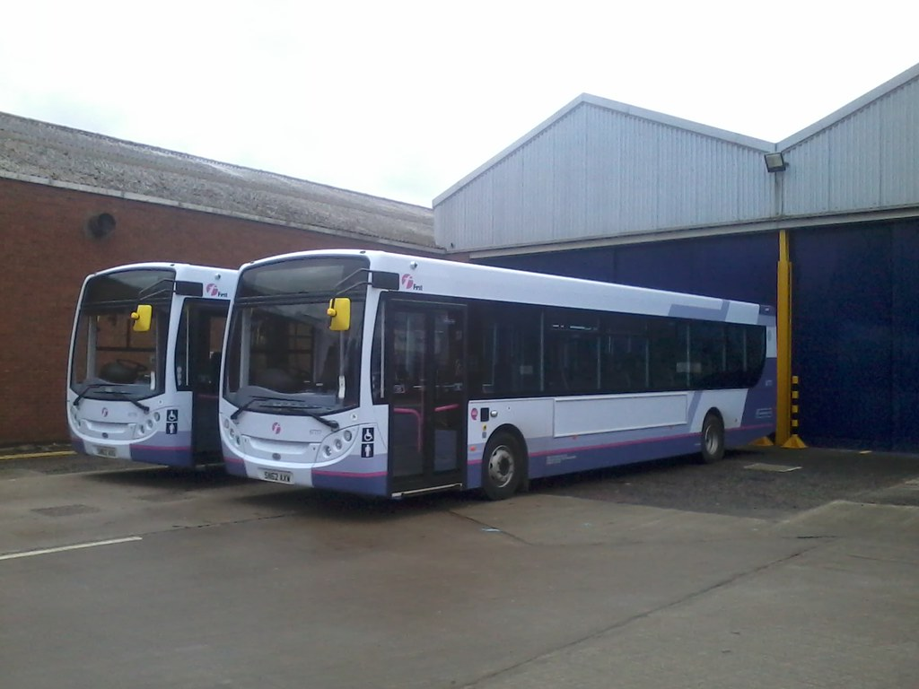 First Midland Bluebird Enviro 300 67776 Sn62 Axu And 67777
