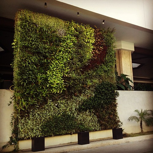 Dusit Hotel does the vertical garden so well! #makati | by The Dafinator