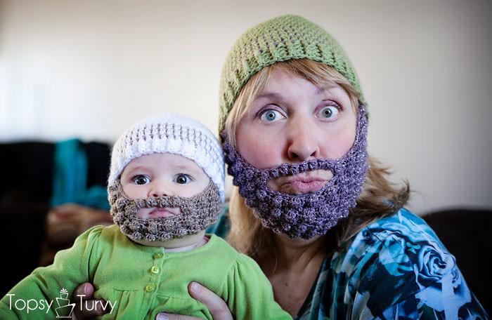 Crochet Bearded Beanie Pattern Free Baby Adult Imtopsyturv Flickr