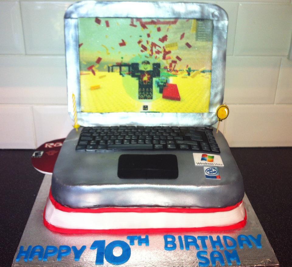 Roblox Birthday Cake With New Logo