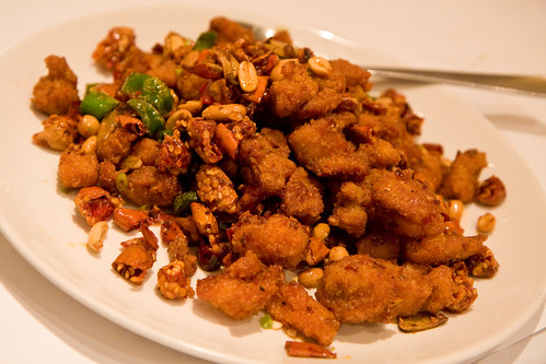 Smoky wok tossed diced chicken with thousand crispy chilis and peanuts, Land of Plenty | by gsz