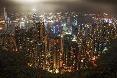 百万ドルの夜景 in 香港 Victoria Peak