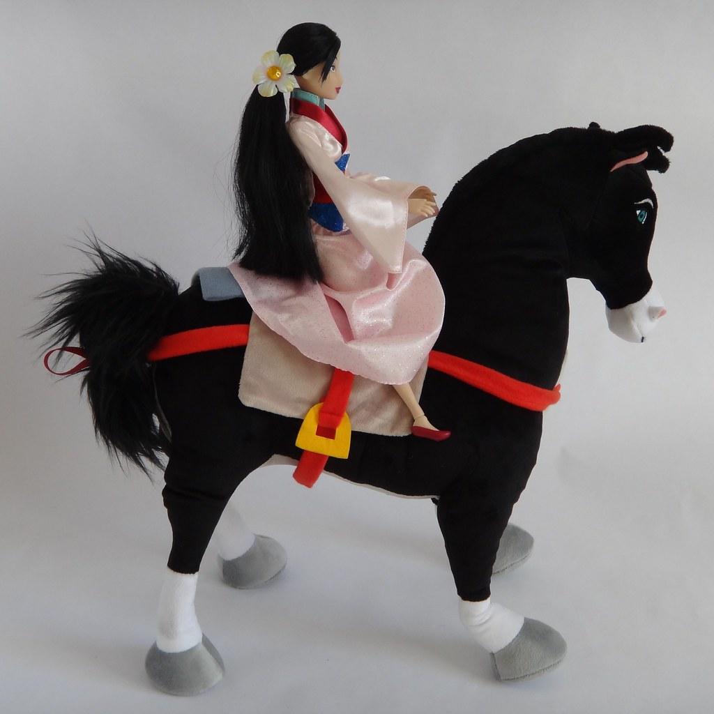 khan 15 plush and classic mulan 12 doll mulan riding flickr