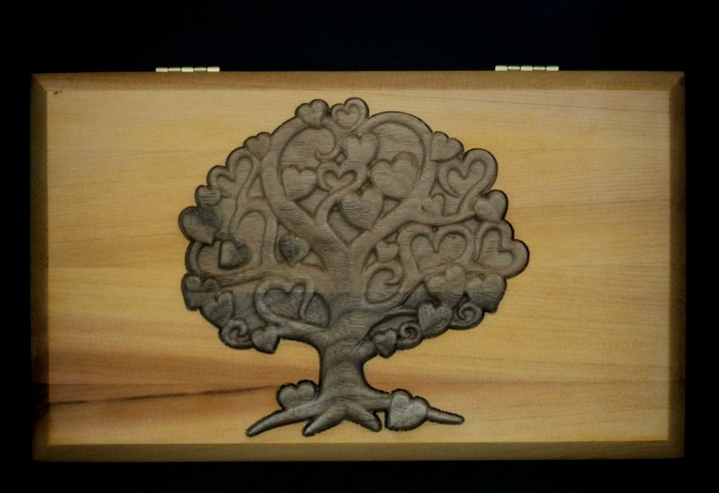 Walnut tree of love cedar lid walnut carving inlaid into cu2026 flickr