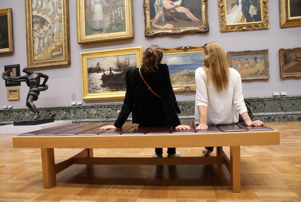 Dans le musée Tate Britain à Londres.