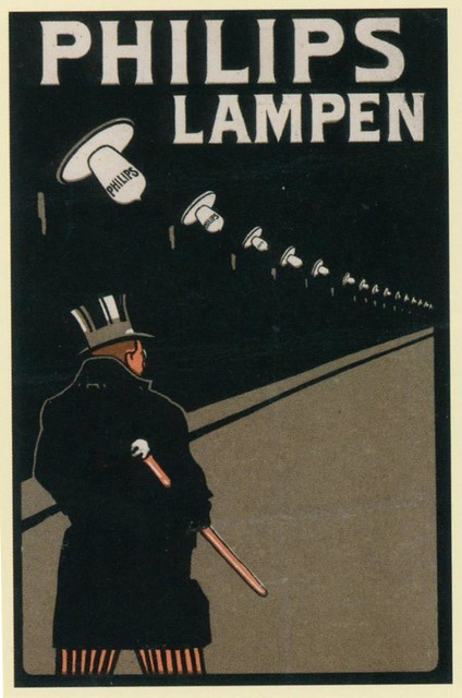 Poster philips lampen j from pages of a ies book