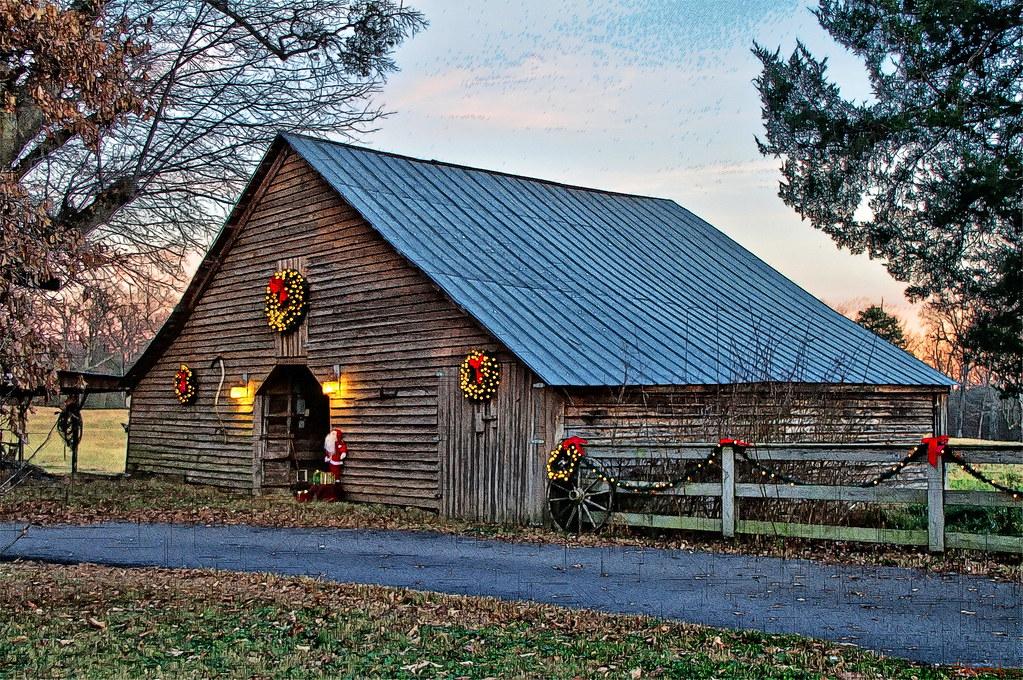 Christmas Barn 3 David Flickr