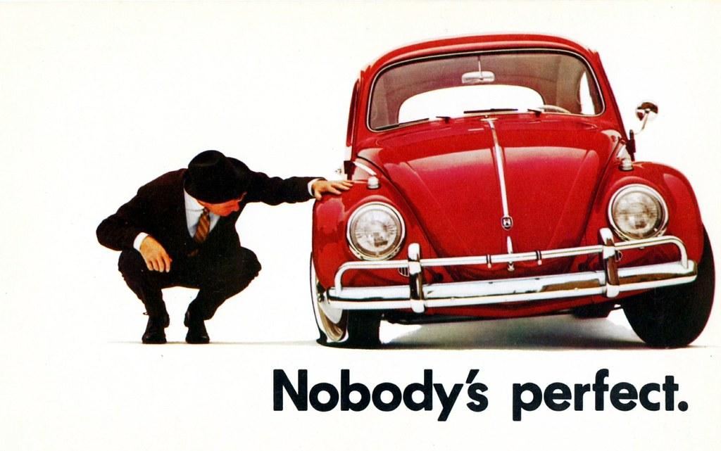 volkswagen beetle postcard nobody 39 s perfect alden jewell flickr. Black Bedroom Furniture Sets. Home Design Ideas