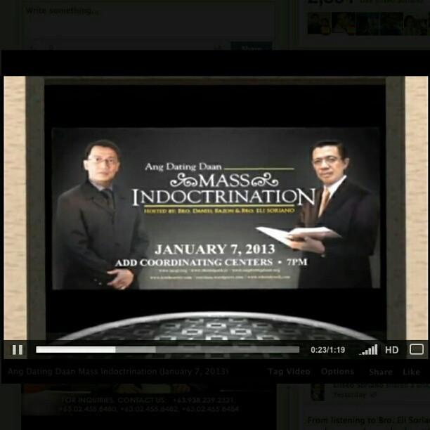 Ang dating daan mass indoctrination