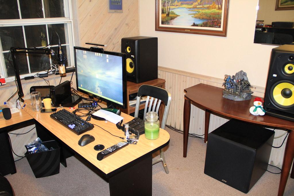 Current Desk Setup | KRK 10-3 Stereo Setup with HSU ULS-15 S