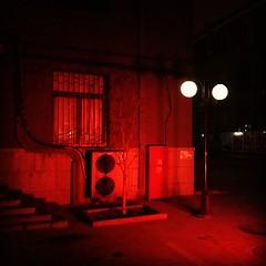 墙与灯 #china #beijing #light #dark #shadow #wall #red #peaceful #aircondition #window #winter #footstep #night
