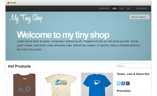Beautiful bootstrap ecommerce template my tiny shop respon for Yahoo ecommerce templates