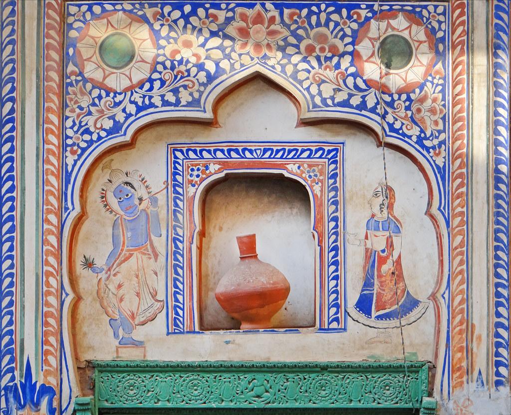 Décor Mural Sneh Ram Ladias Haveli Mandawa Peinture Mu Flickr
