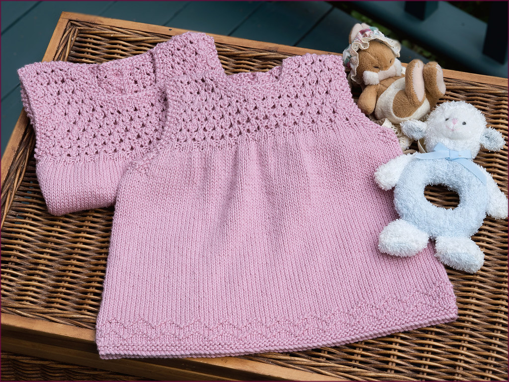 Aelwen Baby Dress Knitting Pattern   cute as a button. The d…   Flickr