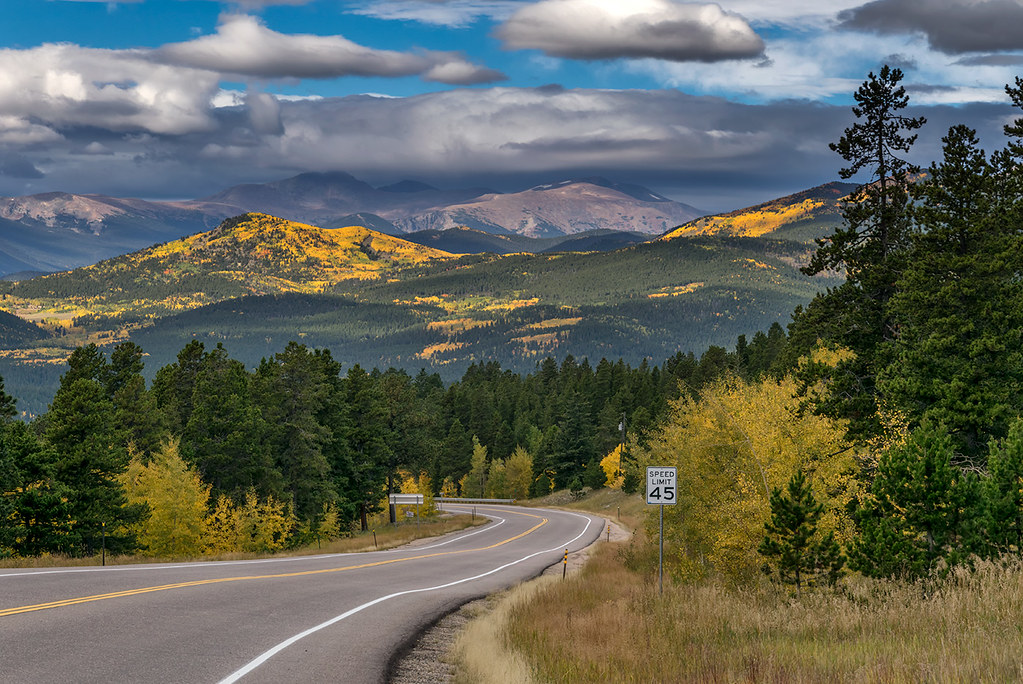 Highway 119, north of Black Hawk, Colorado in Gilpin County