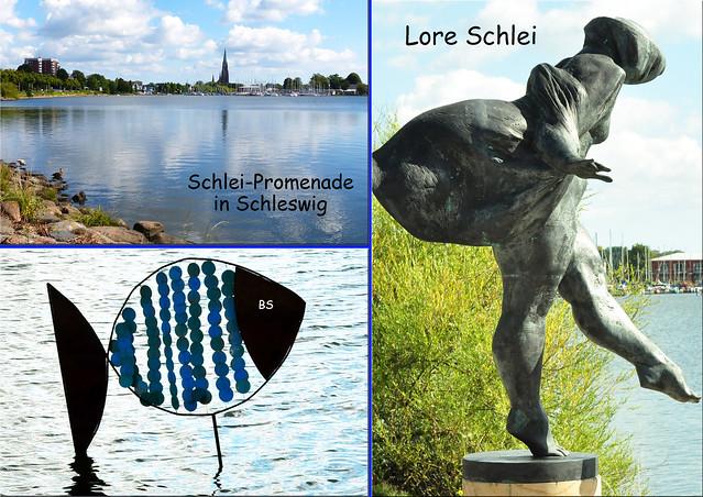 Schleswig Ostseefjord Schlei - Schlei-Promenade - Dom St. Petri - Skulptur Die Badende - Fotos: Brigitte Stolle, September 2016