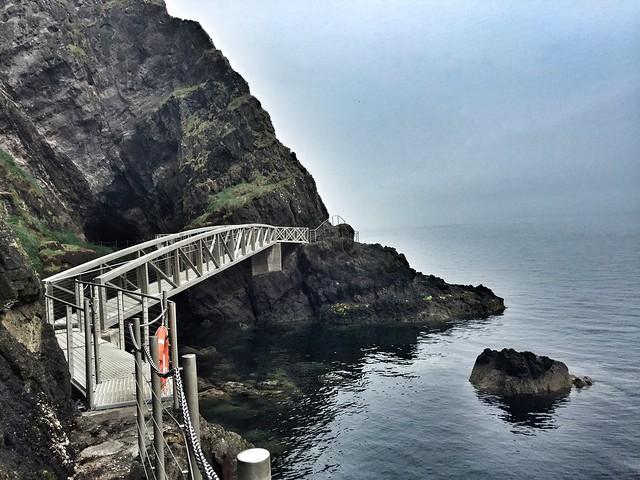 Puente en el sendero de los Gobbins (Irlanda del Norte)