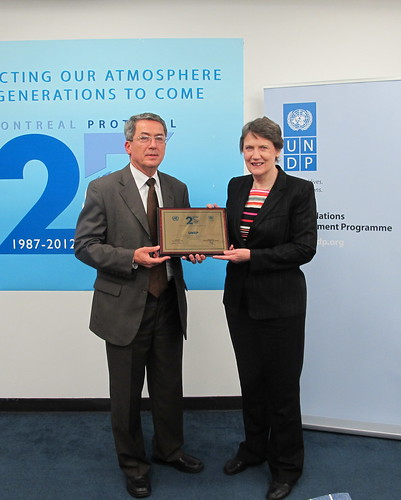 Award ceremony recognizing UNDP's exceptional contribution to the success of the Montreal Protocol which this year marks its 25th anniversary. | by United Nations Development Programme