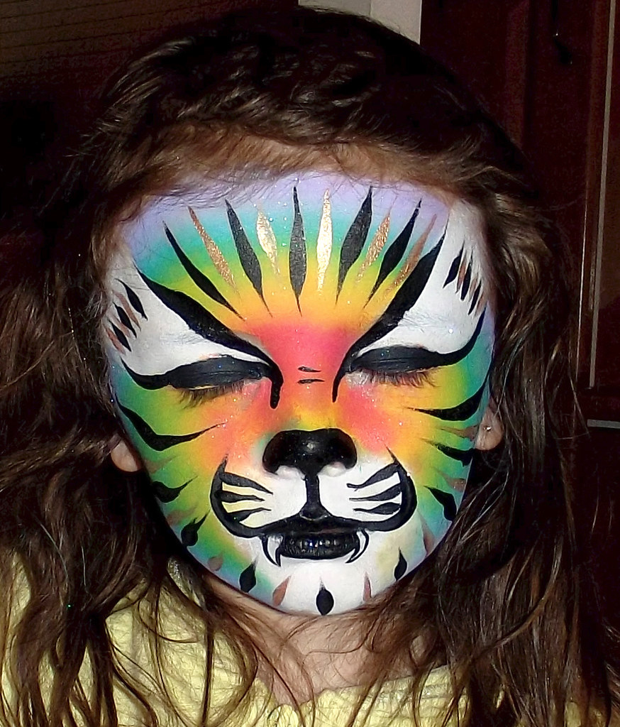 face painting cat - HD874×1024