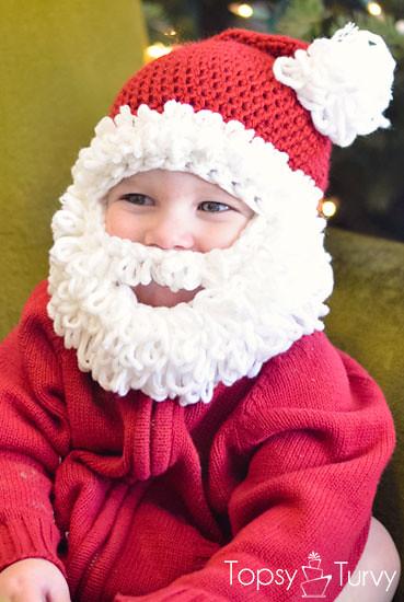 Double Loop Crochet Santa Beard Hat Free Pattern Imtopsytu Flickr