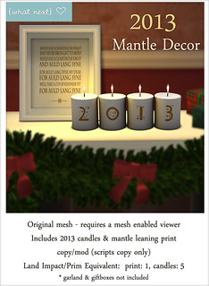{what next} 2013 Mantle Decor for Lazy Sunday | by WinterThorn