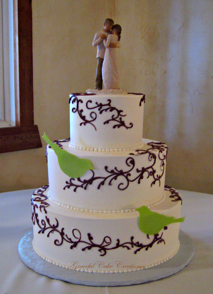 Brown And Green Wedding Cakes