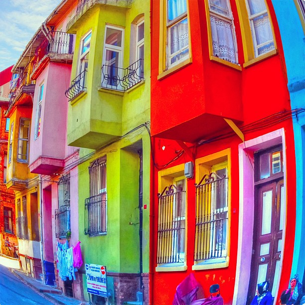 Houses Painted Colourful