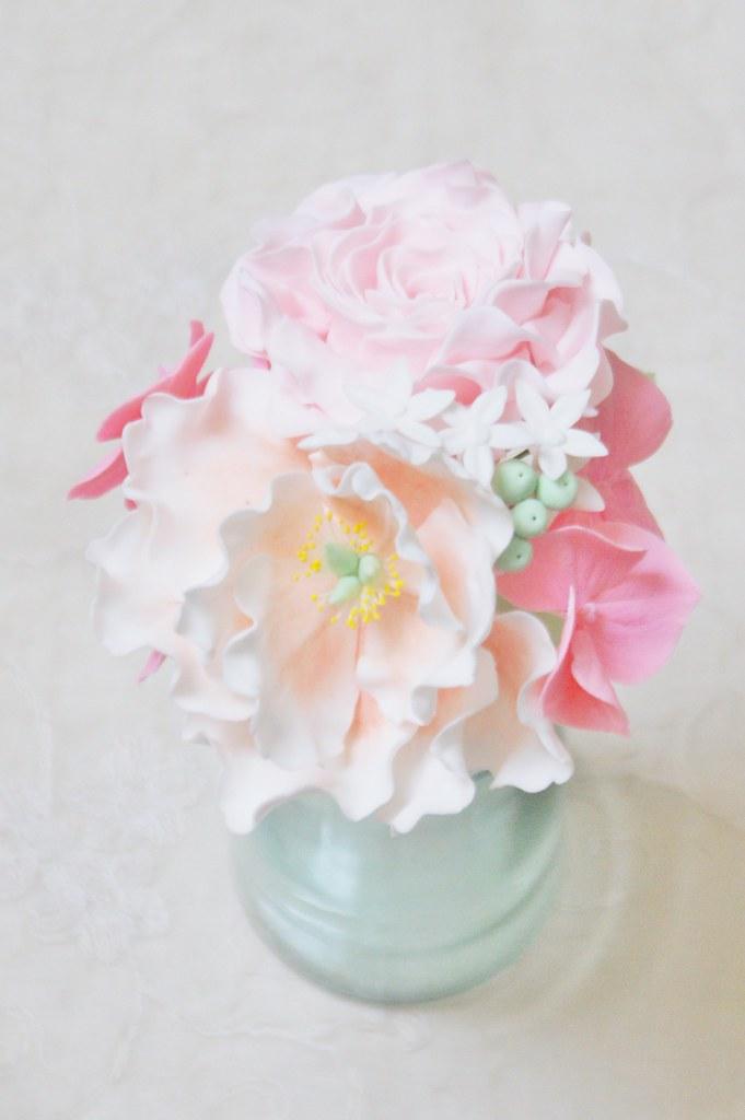 Kundenwunsch Handgefertigte Zuckerblumen Rose Pfingstr Flickr