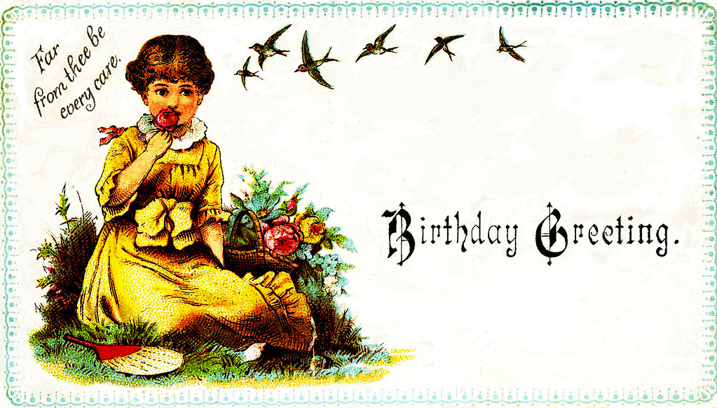 Victorian Birthday Card about 1895 Received today from hi – Victorian Birthday Cards