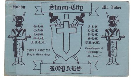 Chicago gang card simon city royals bob borker flickr for Chicago gang cards