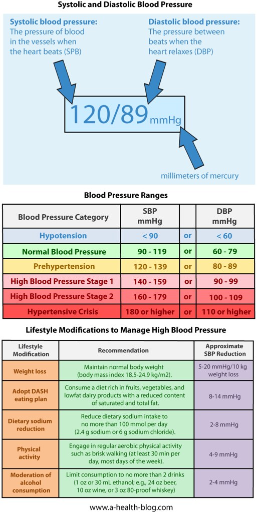 Blood Pressure Chart Featured On A Health Blogblo Flickr