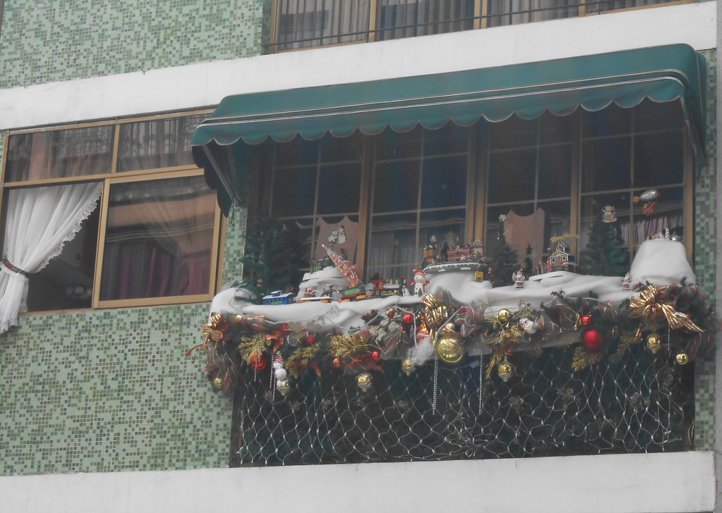 Balcon De Un Apartamento Decorado De Navidad En Caracas Flickr