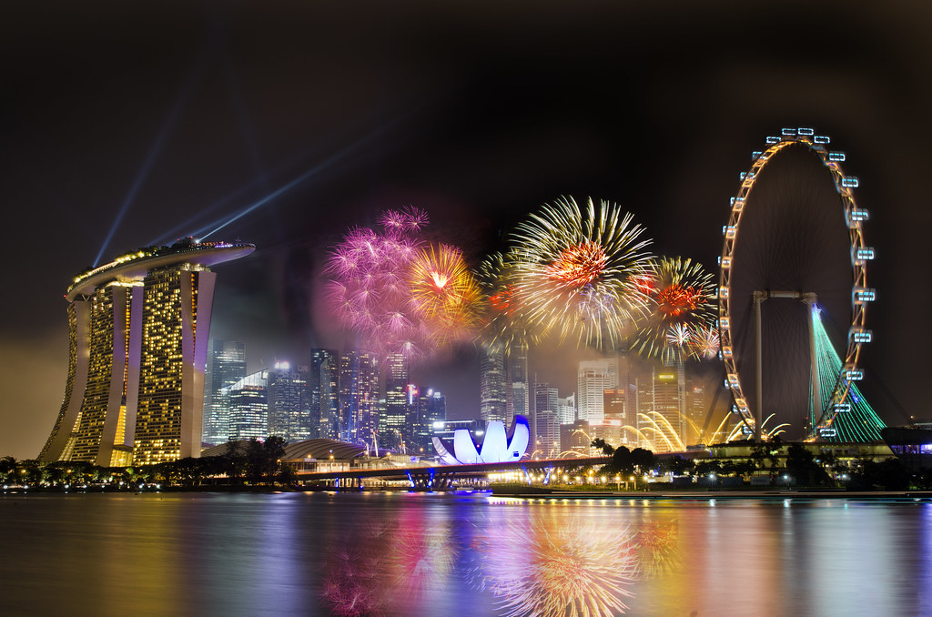 perfect garden by the bay east firework intended design singapore countdown firework as the clock ticks away flickr