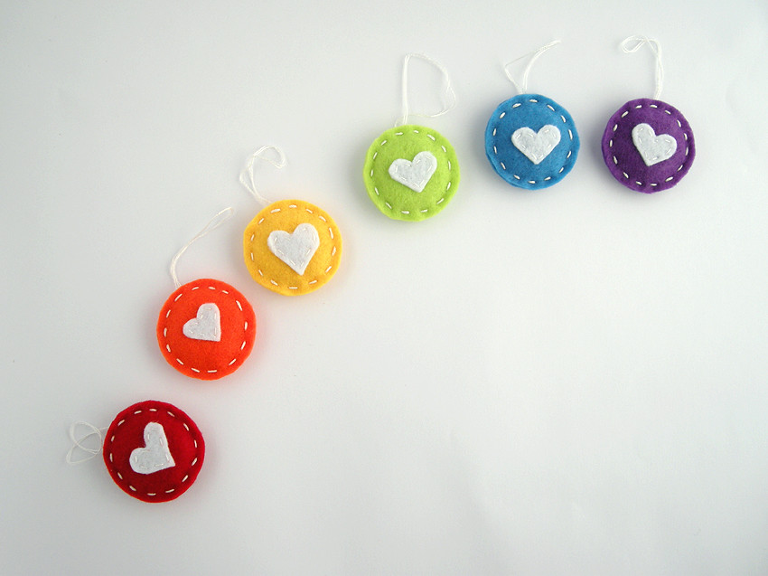 rainbow gift tags rainbow gift tags with a white heart in