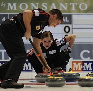 Penticon B.C.Jan10_2013.World Financial Group Curling.Team North America third John Morris,third Kaitlyn Lawes,CCA/michael burns photo | by seasonofchampions
