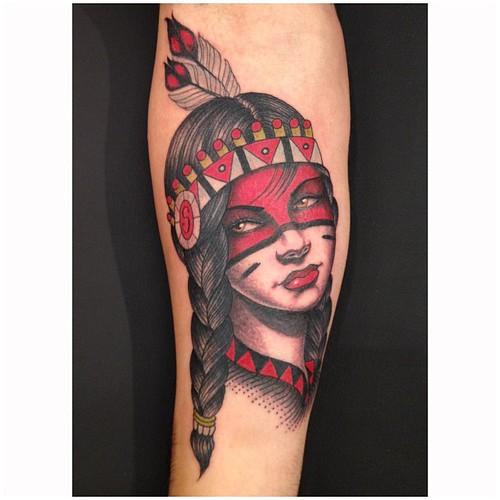 Beautiful Native American Women Tattoos 8387940743_962dc91fcd.jpg Native American Woman Tattoo