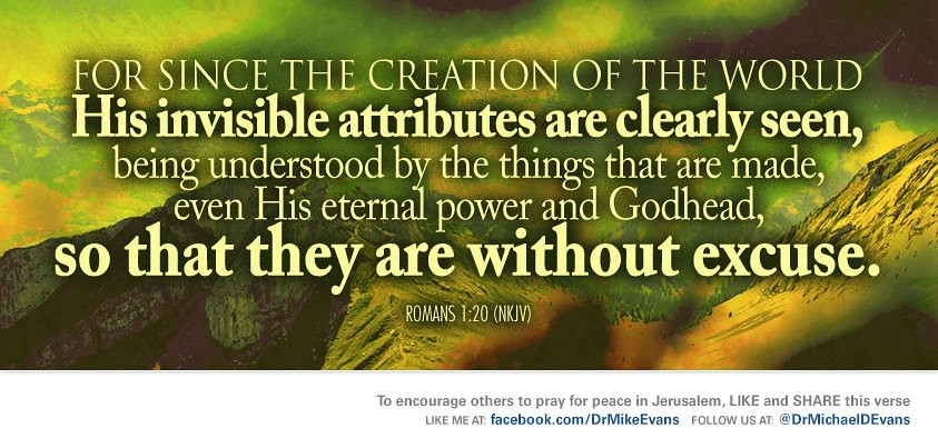 romans 120 mike evans for since the creation of the