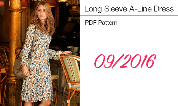 Long sleeve a line dress