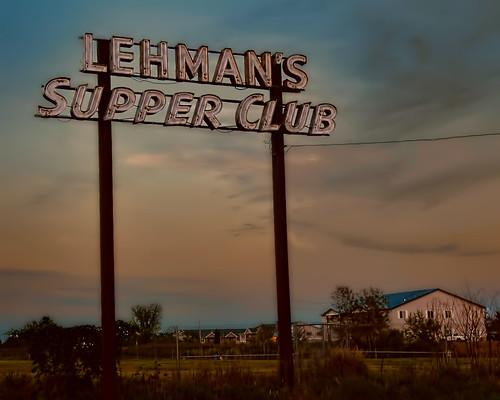 Supper The Backyard Of Lehman S Supper Club Rice Lake