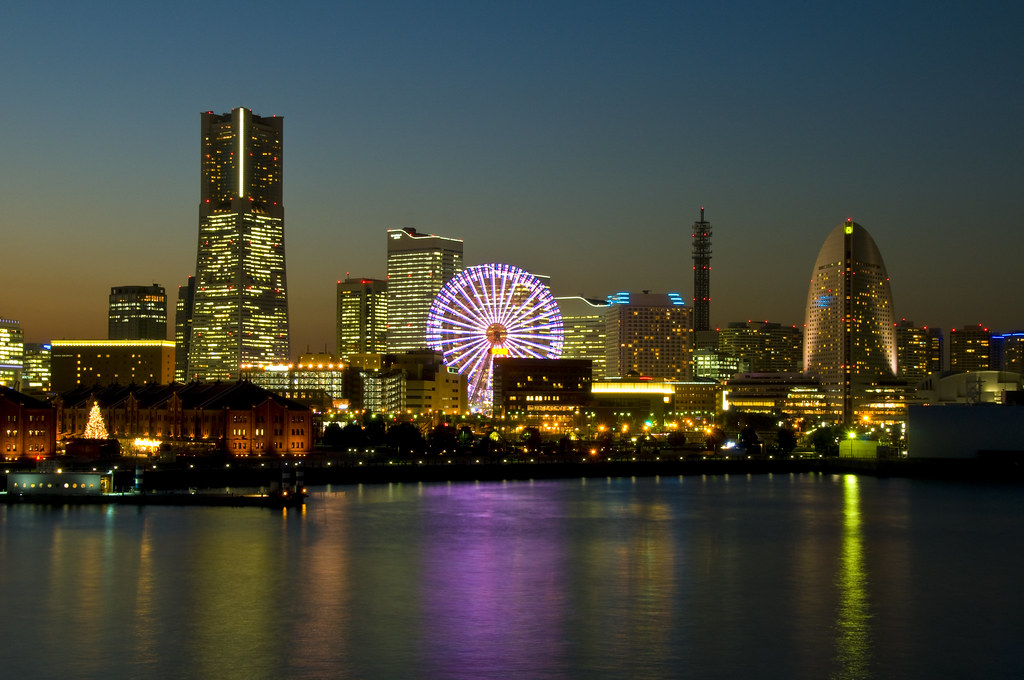 Yokohama Skyline While Making My Plans For Tokyo I Found