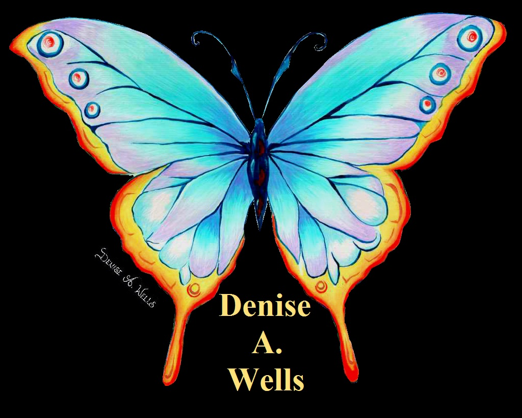 Butterfly Acrylic painting by Denise A. Wells | Butterfly ...